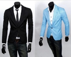 Fashion Stylish Mens Blazer Coat Jacket Casual Slim Fit One Button Suit - Intl By Hoodie Shop.