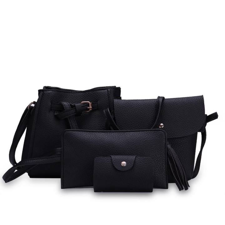 Fashion Trend 4 in 1 Bag Set BBWJH0021 (Black)