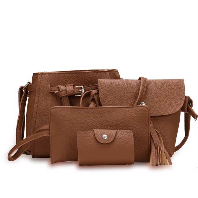 Fashion Trend 4 in 1 Bag Set BBWJH0021 (Brown)
