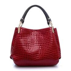Fashion Women Crocodile Pattern Leather Shoulder Bag Female Tote Handbag 007435cfd2063