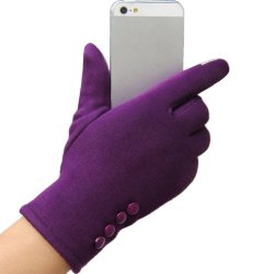 Fashion Womens Touch Screen Winter Outdoor Sport Warm Gloves Purple