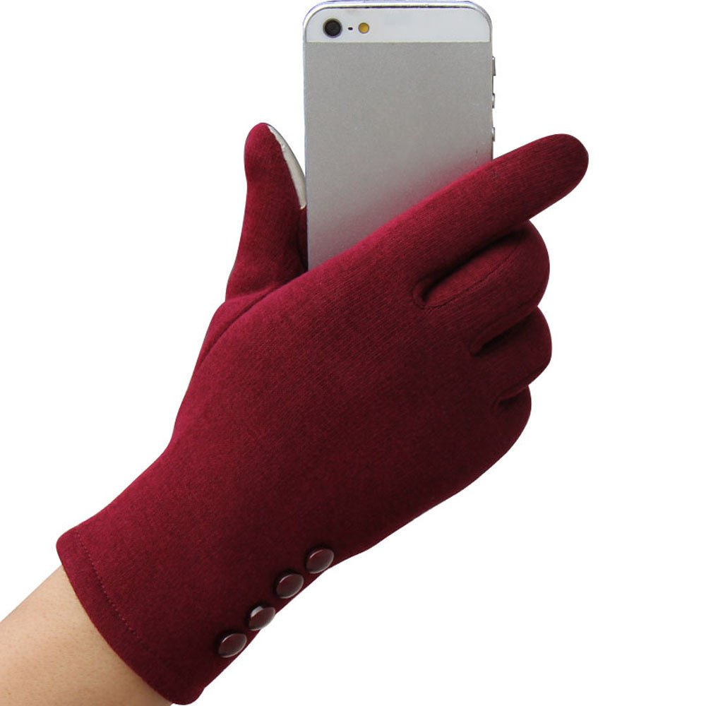Fashion Womens Touch Screen Winter Outdoor Sport Warm Gloves Red - Intl product preview, discount at cheapest price