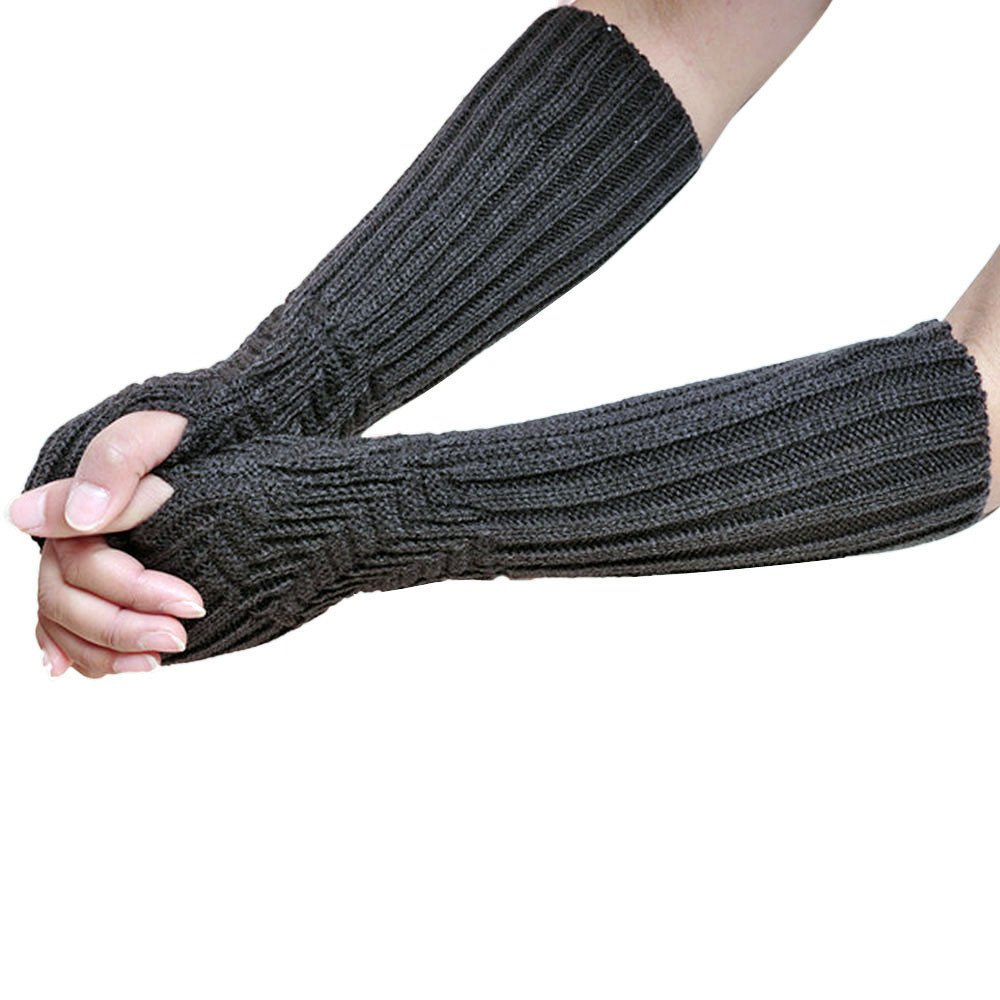 Fingerless Knitted Long Gloves product preview, discount at cheapest price