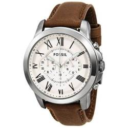 Fossil Grant Men's Cream Dial Watch FS4735