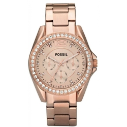 Fossil Riley ES2811 Watch (Rose Gold)