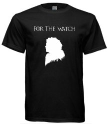 "Game of Thrones Inspired Jon Snow ""For the Watch"" T-Shirt (Black)"