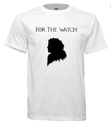 "Game of Thrones Inspired Jon Snow ""For the Watch"" T-Shirt (White)"