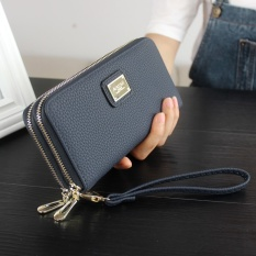 Lalang Pu Leather Punk Zipper Skull Wallet Purse Card Holder Gold Source · Genuine Leather Women