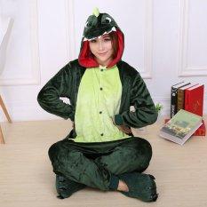 54c61e9912 GETEK Dinosaur Adult Unisex Pajamas Cosplay Costume Onesie Sleepwear S-XL  (Green)