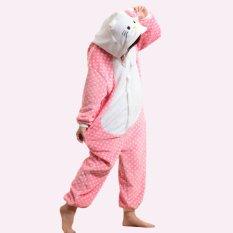5264ee3fdd GETEK Kitty Adult Unisex Pajamas Cosplay Costume Onesie Sleepwear S-XL  (Pink)