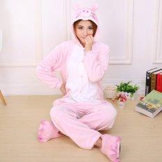 bc9094e0e5 GETEK Piggy Adult Unisex Pajamas Cosplay Costume Onesie Sleepwear S-XL  (Pink)