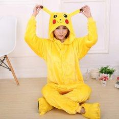 fa6b877f07 GETEK Pikachu Adult Unisex Pajamas Cosplay Costume Onesie Sleepwear S-XL  (Yellow)