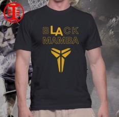 c65c627fea5 Gildan Kobe Bryant Black Mamba NBA Basketball Round Neck Printed Graphic  Statement Shirt - Men s Casual