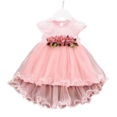 a6cc14ef10 Kidlove Girl Sleeveless Waist Flower Fluffy Yarn Princess Dress Fashionable  Round Collar Lace Dress Skirt as