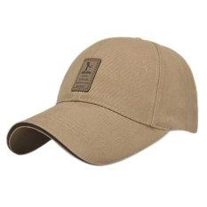 94e77fef5e2 Golf Logo Cotton Baseball Cap Sports Golf Snapback Outdoor Simple Solid  Hats For Men Beige -