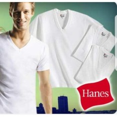a2d0133555ce Authentic Hanes Premium Comfort V Neck TShirt Plain White 100% cotton White  Shirt Made In