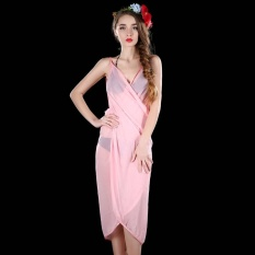 ... Hang Qiao Bikini Strap Flower Beach Dress Shawl Scarf for Women Pink