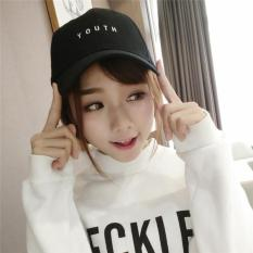 Hang-Qiao Fashion Hats Letter Couples Baseball Caps (Black) - intl
