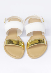 HDY Trixie Flats Sandals (White)