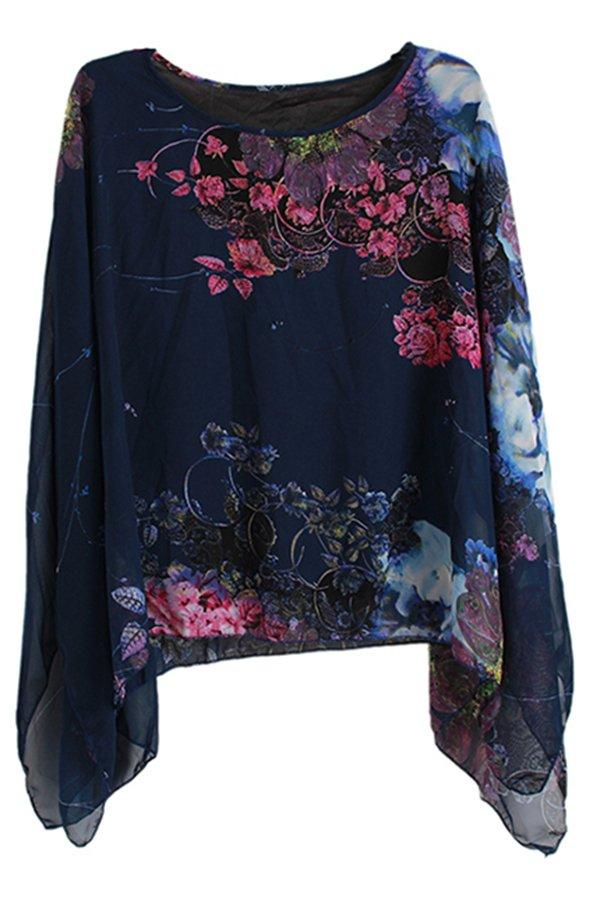 Hengsong Bat Print Shirt (Blue)