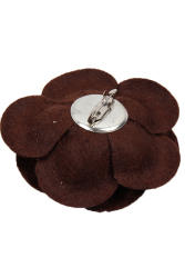 Hengsong Camellia Flower Pin Brooches (Coffee)