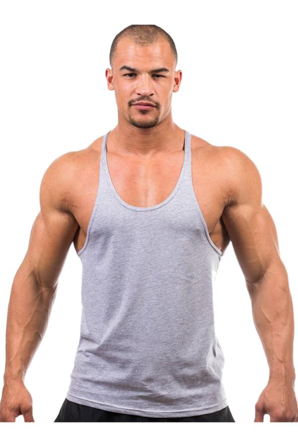 Hengsong Men Fitness Tank Top (Grey)