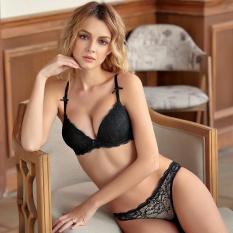 HGHISYU HOT 2017 Underwear Women Bra Set Lingerie Set Luxurious Vintage Lace  Embroidery Push Up Bra 547afc92a