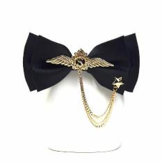 High Quality British Fashion Bowknot Cravat Luxury Metal Wings Five - Point Star Bow Ties For Men Formal Wedding Butterfly (black) - Intl By Dongguan Sanfang Textile Co Ltd.