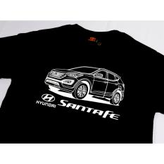 HYUNDAI SANTA FE T-Shirt by KARCO for Car Enthusiast Mens Car T Shirt Motor  Shirt 1st (Black)