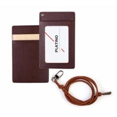 ID Card Badge Holder Unisex Premium PU Leather Card Case Wallet Purse Lanyard Necklace Neck Strap