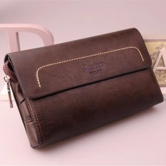 Jeep New Men's Leather Handbag Men Purse Large Capacity Clutch Wallet Business Phone Bag (Camel