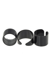 Jetting Buy 3PCS Ring Set Black Stack Plain Above Knuckle Ring