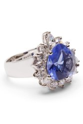 Jewelworld Clarice 2 Ring (Silver/Violet)