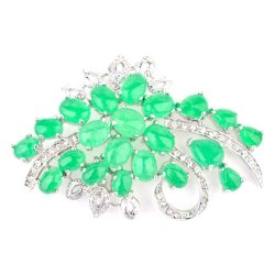Jewelworld Imperial 15 Brooch (Green)
