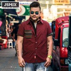 e3fa4b8bbee9f JSMIX Plus Size Big Large Fashion Cotton Short Sleeve Casual Shirt - Intl