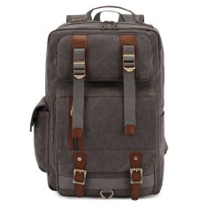 a7a9d0addc KAUKKO FS261 Men s Vintage Multi-pocket Backpacks Personalized Herschel  Style Premium Grade Canvas Bag (