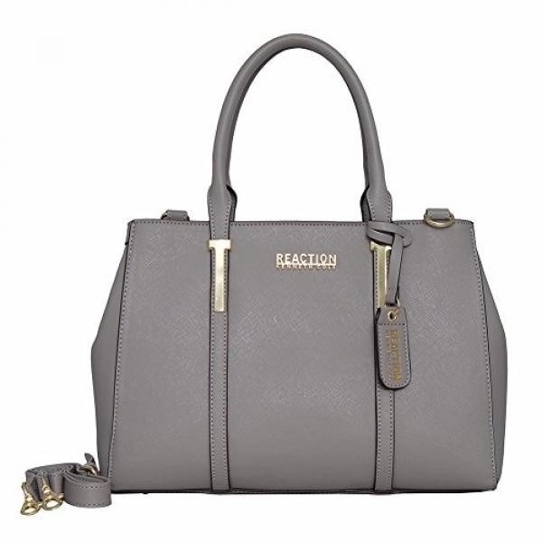 Kenneth Cole Reaction KN1860 Triple Entry Harriet Satchel Handbag (STONY  BROOK) - intl dbe7809dc559e