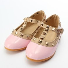 Kids Girls Toddler Sandals Buckle Princess Rivet T-strap Flats Pointed Toe  Shoes Pink - intl Philippines 7fb82edefe17