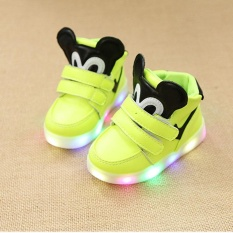 Kids LED Light Up Shoes Casual Sneakers For Boys Girls(Yellow) - intl
