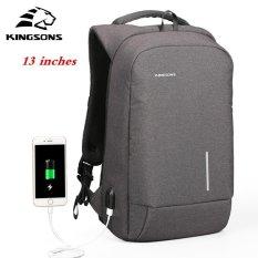 7e55705fa0 Kingsons 13   External USB Charging Backpacks School Backpack Bag Laptop  Computer Bags Men s Women s