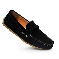 PHP 1.497. KLYWOO Fashion Men Casual Genuine Leather Suede Loafers Driving Shoes ...