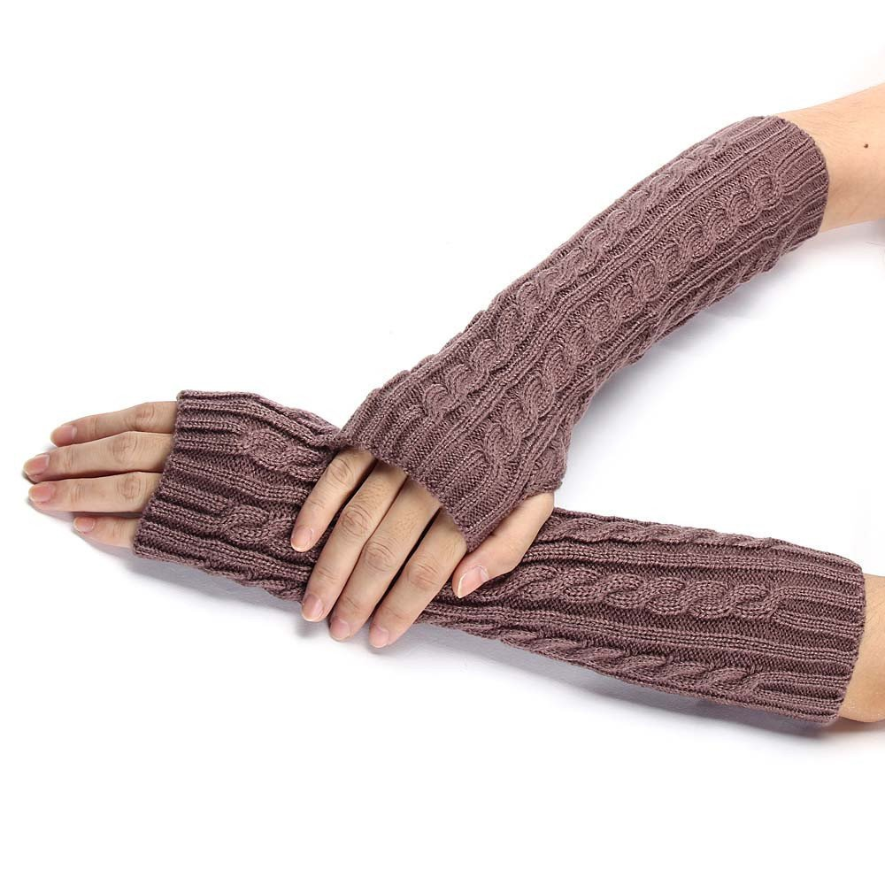 Knitted Arm Fingerless Winter Gloves Unisex Soft Warm Mitten product preview, discount at cheapest price