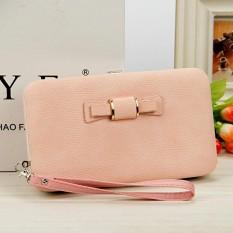 Kobwa Women Fashion Bowknot Wallet Long Purse Phone Card Holder Clutch Storage Organizer Large Capacity Tote