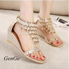 7c2b107de1ec5 GenGeGo Korean Fashion Shoes Summer Diamond Zipper Pearl Beads Women s Shoes