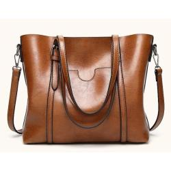 Korean Leather Tote Bag with Pocket Shoulder Bag  Office Tote Bag Sling Bag Korean Bag Leather Bag Fashion Bag