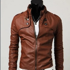 Korean Mens Leather Jacket Collar- Intl By Fashion Nine.