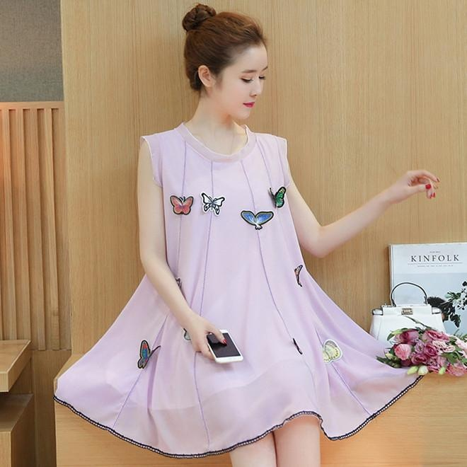 New Style Long Sleeved Lace A Line Dress Dress Merah Muda Korean Style .