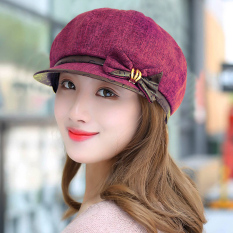 Womens Korean-style Fashion Beret (Cooljie fashion hat purplish red) (Cooljie fashion hat purplish red) Women Accessories Hats Caps