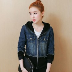 girl women 2018 Spring And Autumn New Style Korean Style Junior High School  Students Jacket Hooded 2653ef7ac
