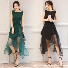 Womens Organza Irregular Hem Dress White Black Atrovirens (Dark green color) Women Clothing Dresses Dress for Women · OEM Women's Fashion Reviews: ...